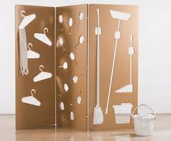 Cardboard Room Dividers by Sandra Cabello U0027s Cardboard Wall Stores Everything From Brooms To