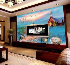 custom wallpaper home decor room 3d photo mural sunset cottage