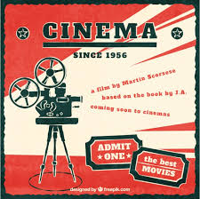 cinema poster vector free download