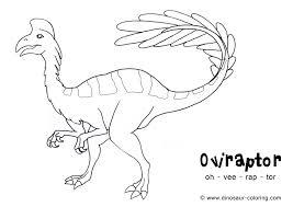 dinosaur coloring oviraptor 4340 bestofcoloring com