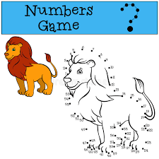 kitab indir oyunlar oyun oyna en kral oyunlar seni bekliyor numbers game cute beautiful lion king stock vector illustration