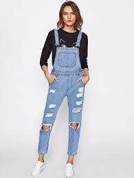 Jeans Jumpsuit For Womens Denim Jumpsuits For Women Us Shein Sheinside