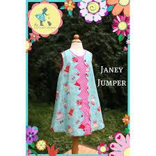 the cottage mama janey jumper a line dress pattern for girls