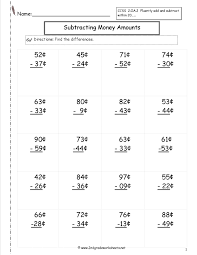 money identification worksheets 5th grade fraction word problems