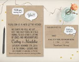 casual wedding invitations wedding invite etsy