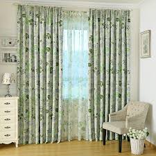 Navy And Green Curtains Stunning Green Blackout Curtains With Leaves Patterns