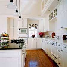 Small Galley Kitchen Makeover Astounding Galley Kitchen Remodel Which Has Several White Cabinets
