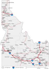 Map Of Idaho State by Idaho State Road Map Map