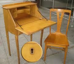 Pine Secretary Desk by Uhuru Furniture U0026 Collectibles Sold Birdseye Maple Secretary