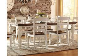 wood dining room sets marsilona dining room table ashley furniture homestore