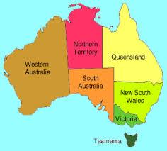 states australia map chapman bushwalking in australia