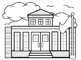 Coloring Page Of A School Small School Coloring Page by Coloring Page Of A School
