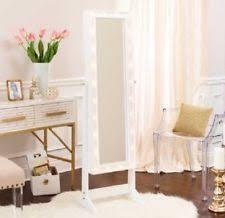 Girls Jewelry Armoire Rectangle Mirrors With Lightening Ebay