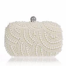 wedding bags women pearl beaded clutch bag party bridal handbag wedding