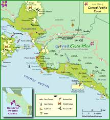 map central central pacific coast map costa rica go visit costa rica