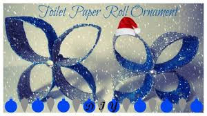 diy toilet paper roll christmas ornament christmas crafts youtube