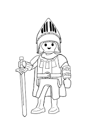 Les chevaliers Playmobil Coloriage  Playmobil Knights le chevalier