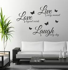 Live Laugh And Love by The Grafix Studio 03 Live Laugh Love With Butterflies Wall Art