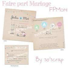 faires parts mariage le d efdc by so scrap