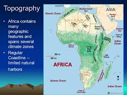 africa map climate zones geography by miss kathryn raia topography africa contains
