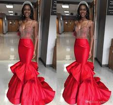 miss world 2017 pageant evening gowns red spaghetti straps beaded