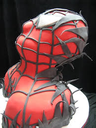this spider man cake was so sweet that venom ate it between the