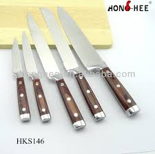 restaurant kitchen knives 18pcs hotel restaurant kitchen knife set in rotatable wooden block