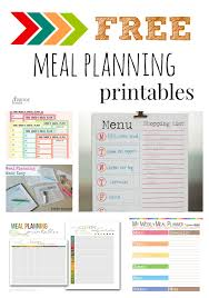 printable meal planner free five fabulous free meal plan printables the taylor house