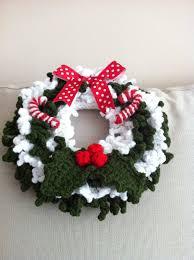 handmade with love by g crochet christmas wreath 2011