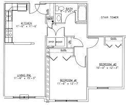 bedroom 2 bedroom floor plans with garage hunting cabin floor