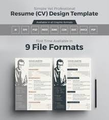 Template Resume Design Simple Professional Resume Template In Ai Eps Psd Word Cdr