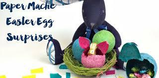 easter egg surprises paper mache easter egg surprises pillar box blue