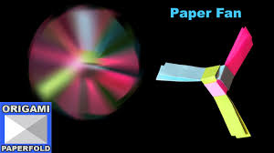 how to make a rotating paper fan origami for kids f2book video
