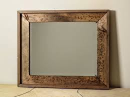 Reclaimed Wood Bathroom Mirror Distressed Wood Bathroom Mirror Bathroom Mirrors Ideas