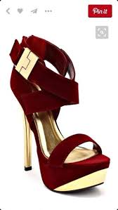 Plum High Heels Shoes Plum Gold Heels Pumps Burgundy High Heels Wheretoget
