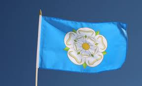 New Yorks Flag Hand Waving Flag Yorkshire New 12x18