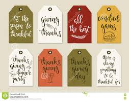 thanksgiving day vintage gift tags and cards with calligraphy
