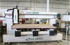 used cnc router table used c r onsrud twin table cnc router model 98c12