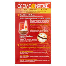 Color For Gray Hair Enhancing Creme Of Nature Exotic Shine Color Intensive Red 7 6 Permanent