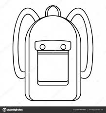 backpack icon outline style u2014 stock vector ylivdesign 143544355