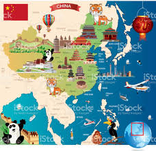 Map Great Wall Of China by China Cartoon Map Stock Vector Art 672599734 Istock
