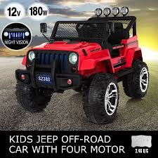 electric jeep for kids electric ride on jeep remote control off road kids car w built in