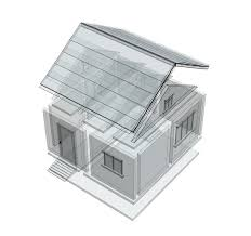 3d sketch of a house stock images image 7665224