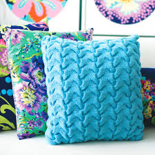 Knit Cushion Cover Pattern Competent With Cabling Try This Funky Textured Cushion Cover