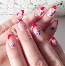 tuto nail art fleurs one stroke et french dramatique youtube