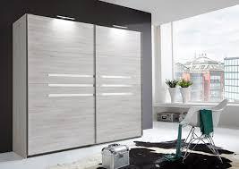 armoires de chambre armoire 2 portes coulissantes chambre à coucher chene blanc