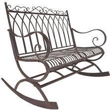 Metal Rocking Patio Chairs Titan Outdoor Metal Rocking Bench Chair Porch Patio Garden Deck