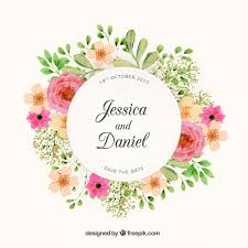 wedding design floral wreath wedding design vector free
