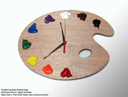 Art Wall Clock by Artist Palette Wall Clock With 3d Paint Daubs Globs Unique