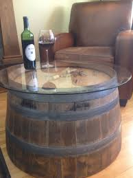 Wine Barrel Home Decor Reversible Reclaimed Half Wine Barrel Table By Duluthbarrelworks